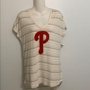 Ladies Small Philadelphia Phillies Pullover Top